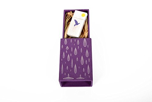 Purple Rain – 16GB Laser Printed hand made paper box with Raffia Grass – includes a Wood Wash White flash drive with a purple dove