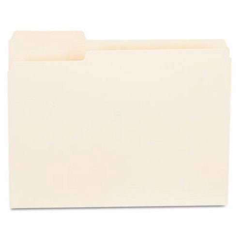 Manila Single Folders Top (File Folders, 1/3 Cut First Position, One-Ply Top Tab, Letter, Manila, 100/Box, Sold as 100 Each)