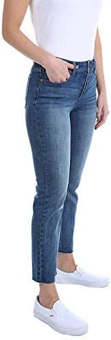 31Wj9tor0dL. AC Kenneth Cole Ladies' Button Fly High Rise Straight Leg Comfort Stretch Jean    <p> Price: (as of  - Details)</p>