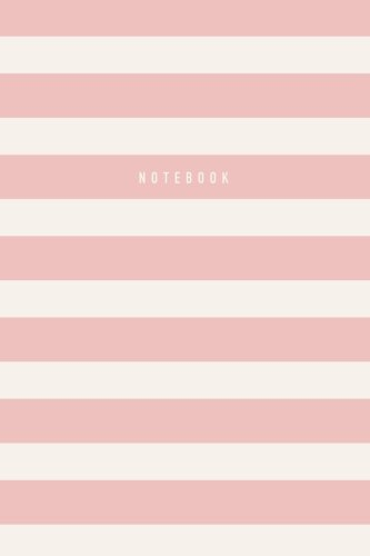 Notebook: Blush Stripes Journal, Notebook, Diary, 6