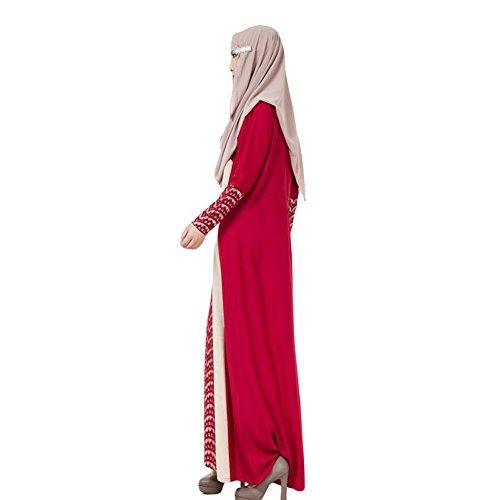 Haodasi Damen Muslim Arab Robe Middle East Kaftan Abaya Lace ...