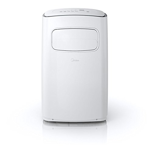 Midea MPF12CR71-A EasyCool Portable Air Conditioner with FollowMe Remote Control in White/Silver for Rooms up to 300-Sq. Ft.