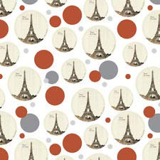 Paris, Je T'Aime I Love You Eiffel Towe Premium Gift Wrap Wrapping Paper Roll