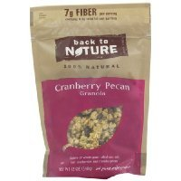 Back To Nature Cranberry Pecan Granola, 11-Ounce Pouches (Pack of 6) have a problem Contact 24 hour service Thank - Granola Cranberry Pecan