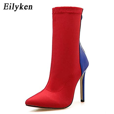 ccb66634b157 Image Unavailable. Image not available for. Color  HuWang Autumn Winter Socks  Boots Pointed Toe ...