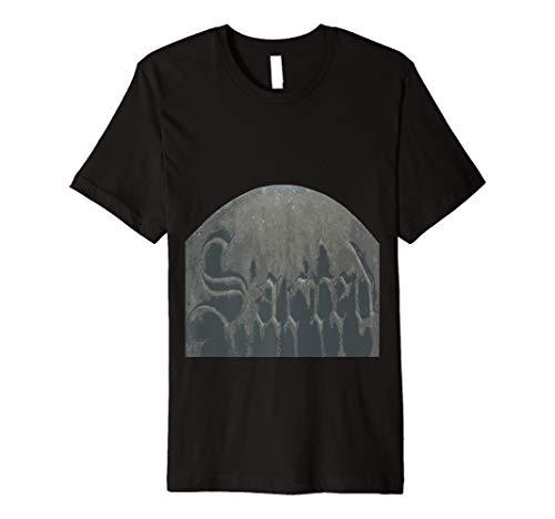 Sacred Gothic Text Halloween Gravestone  Premium T-Shirt]()