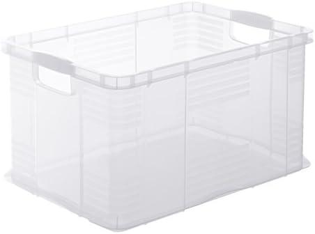 gr/ün PP Kunststoff Rotho Agilo Aufbewahrungsbox 55 l 59 x 39 x 31 cm 55 Liter // A3