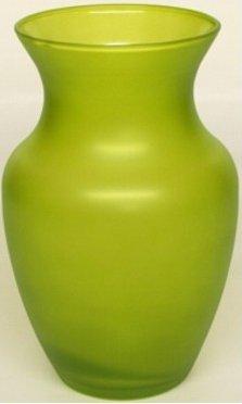 """Floral Supply Online 8"""" Green 999 Rose Vase- Decorative Glass Flower Vase for floral arrangements, weddings, home decor or office."""