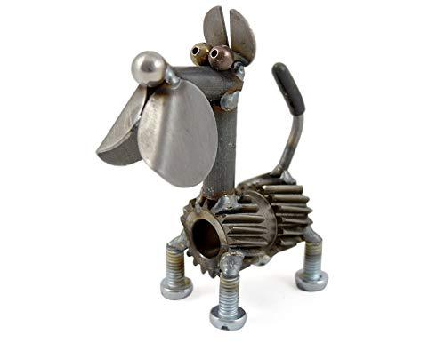 Modern Artisans Torque The Dog Reclaimed Metal Desk Pet, American Made