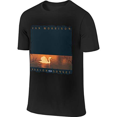 Van Morrison Avalon Sunset Mans Summer Round Neck Sports Comfortable T-Shirt 4XL Black