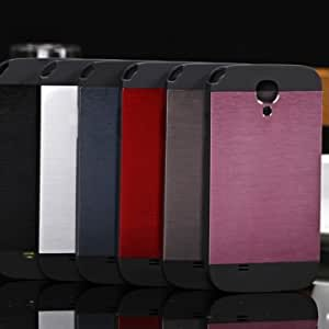 Crafted Brushed Aluminum Metal Case For Samsung Galaxy S4 i9500 @ Color==Dark Blue