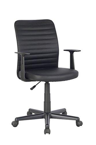 SixBros. Bürostuhl Drehstuhl Schreibtischstuhl Schwarz - HLC-1578/2101