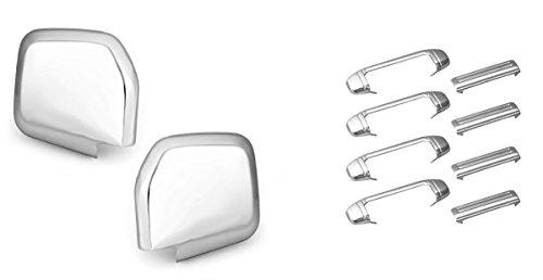Sizver Chrome Door Handle+Door Mirror Cover For Mitsubishi (Mitsubishi Chrome Cover)