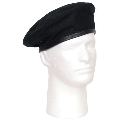 Fox Outdoor Products Military Beret, Black, Size 7
