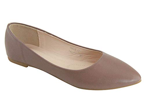 Bella Marie BellaMarie Angie Women's Classic Pointy Toe Ballet Flat Shoes (10)