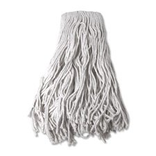 Mop Head Cotton 4 Ply - Mop Head, Refill, Cotton, 24 oz, 4-Ply, White, Sold as 2 Each