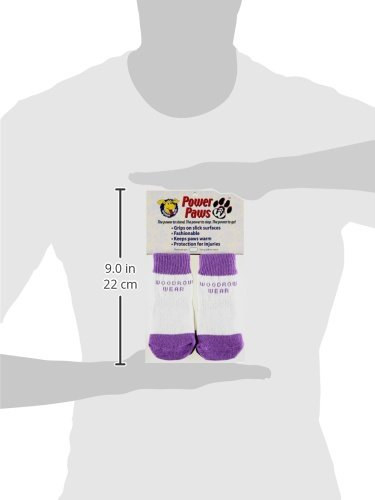 Woodrow Wear Power Paws Traction Socks for Dogs, X-Large, Purple with White Stripe by Woodrow Wear (Image #1)