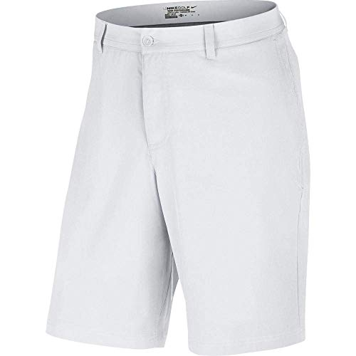 NIKE Dri-Fit Flat Front Tech Short, White, 36