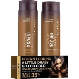 Joico New Color Infused Brown Shampoo & Conditioner Holiday Duo Set - 10 oz For Brunettes