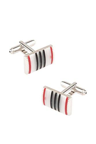 Vertical Stripe Multi Red Metal (Multi Stripe Cufflinks)