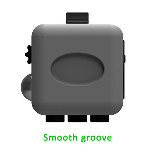 Juslink Fidget Cube Toys,Stress Cube, Anti-anxiety Cube for Kids and Adults Anxiety Attention Toy (Gray-2) - 5