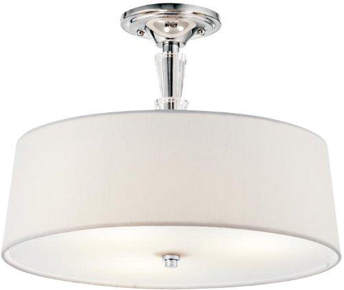 Kichler 42035CH Crystal Persuasion Semi-Flush 3-Light, Chrome