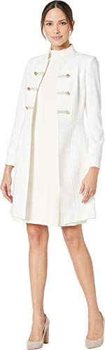 Tahari by ASL Women's Crepe Military Style Topper Ivory White 16 from Tahari ASL