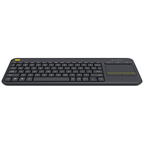 Black Wireless Mini Ultra Slim Keyboard and Mouse For Easy Smart TV Contol for Hisense 55H7G Smart TV
