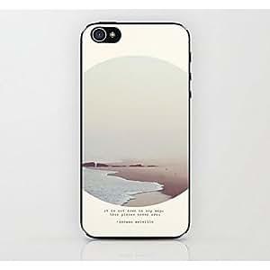 TY- caso duro del patrón océano blanco para el iphone 4 / 4s