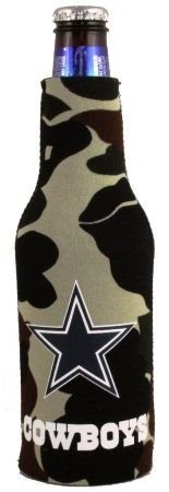 (DALLAS COWBOYS CAMO BOTTLE SUIT KOOZIE COOZIE COOLER)