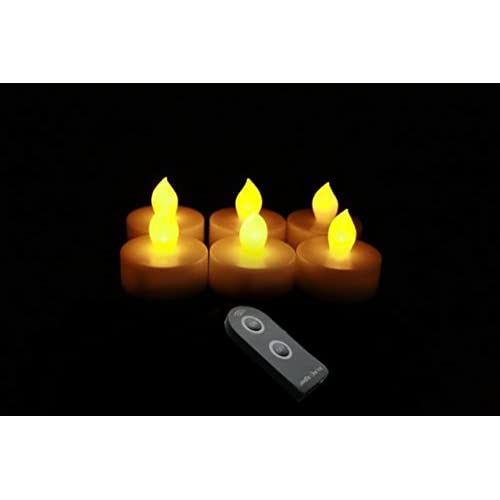 Outdoor Tea Lights Remote control tea lights outdoor amazon candle choice set of 6 plastic tealights with remote workwithnaturefo