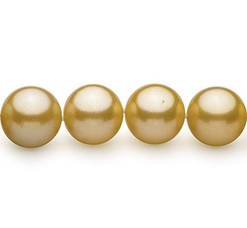 Or 14-15.7mm AAA+-qualité des Mers du Sud 585/1000 Or Jaune-Collier de perles