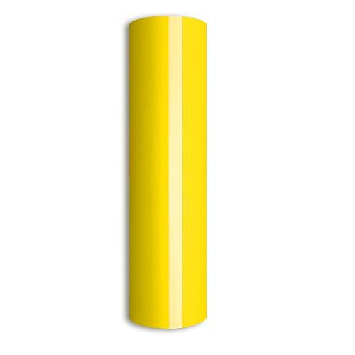 Lemon Yellow Heat Transfer Vinyl,HTV Iron on Vinyl for Cameo for DIY Garments,T-Shirts 0.8x5ft (Lemon Yellow)