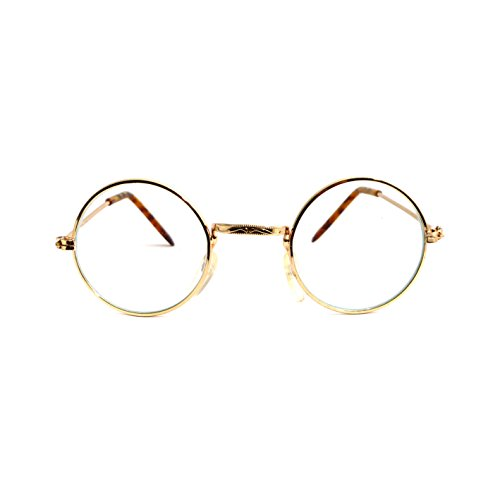 John Glasses - Gold Clear Costume (Old Halloween Costumes 1970s)
