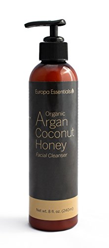 Coconut Honey (Europa Essentials Organic Coconut Honey Facial Cleanser (with Aloe & Argan Oil), 8oz)