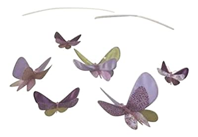 Lambs And Ivy Luv Bugs Ceiling Sculpture Plum from Lambs & Ivy