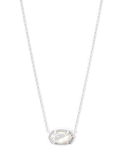 Kendra Scott Womens Elisa Necklace Matte/White/Ivory/Mother-Of-Pearl One Size (Necklace Ivory Womens)