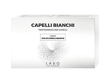 LABO CAPELLI BIANCHI 30% - TRATTAMENTO PER CAPELLI 60 Fiale UOMO - 3 mesi  di trattamento  Amazon.it  Bellezza 510dbdd4e859