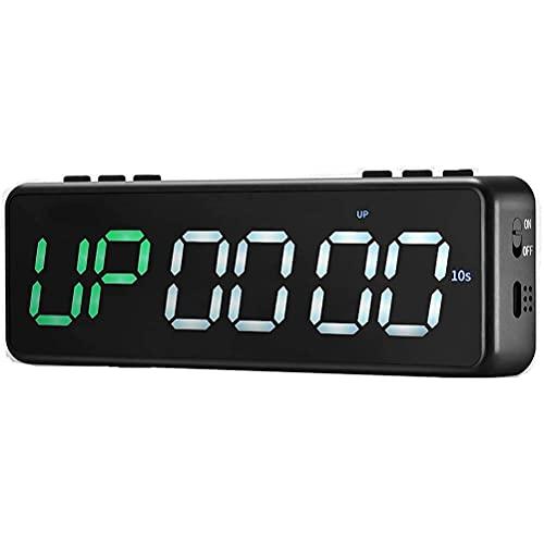 Gazaar Gym Timer Stopwatch met 11 Timing Modes, Countdown/up Clock Interval Timer Clock voor Home Fitness Training…