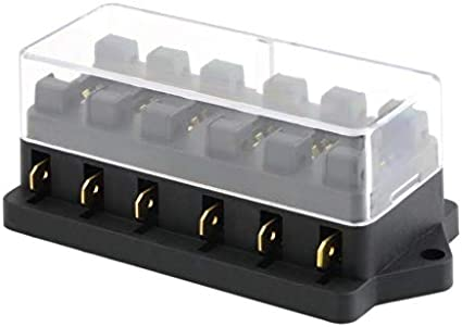 Universal 12 V 6 Way Caja de Fusibles Caja de Fusibles de Bloque ...
