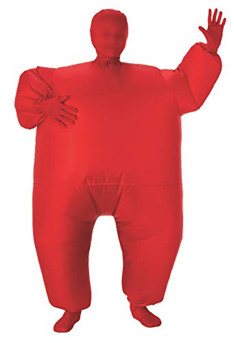 Fat Man Halloween Costume (Child's Inflatable Full Body Suit, Red, One)