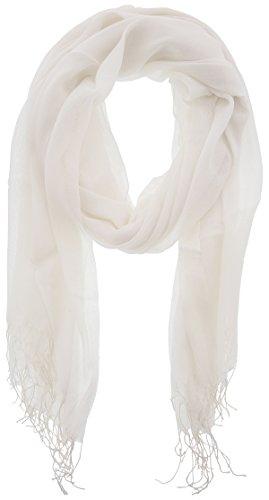 Cotton Shawl - Juvoice Style's 100% Soft Cotton Elegant Solid Color Scarf - White