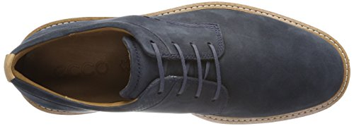 Ecco Mens Jeremy Cravate Oxford Marine Plaine Toe