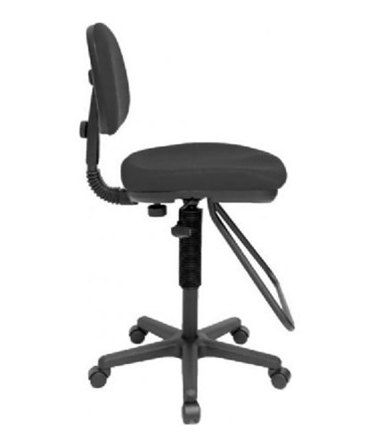 Alvin CH202 Studio Artist/Drafting Chair, Black; Functional, Economical For Studio Use; Pneumatic Height Control, Polypropylene Seat and Back Shells, a Height- and Depth-Adjustable Hinged Backrest