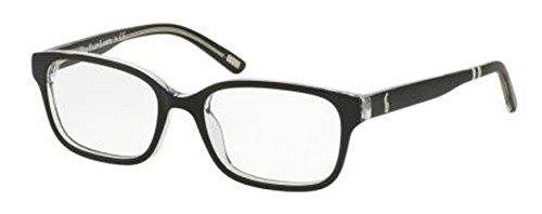 Polo PP8520 Eyeglass Frames 541-48 - Black Crystal