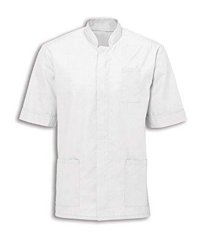 Alexandra Workwear Mens Mandarin Collar Healthcare Tunic White M