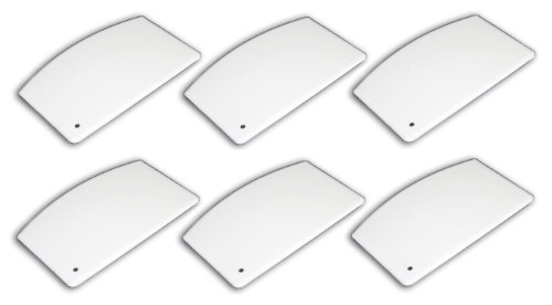 "- (6 Pack) Plastic Bowl / Dough Scraper 5½"" x 3½"", White"