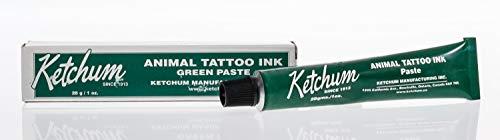 Ketchum Animal Tattoo Ink - Green Paste 1oz. -