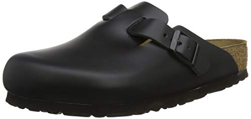 eather Clog,Black,42 N EU ()