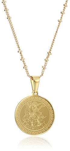 LESLIE BOULES Saint Michael Archangel Necklace 18